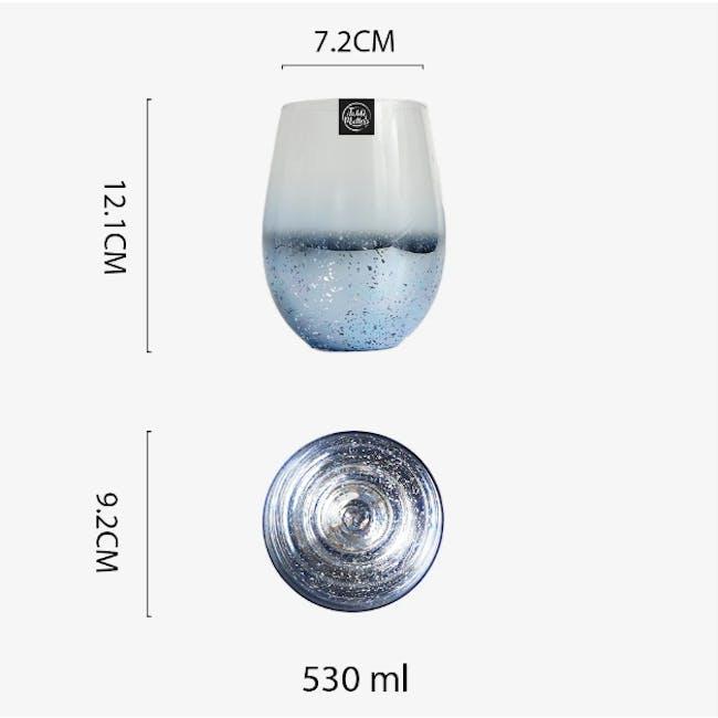 Table Matters Taikyu Luster Glass 530ml - Blue - 5