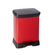 Deco Bin Rect - Red