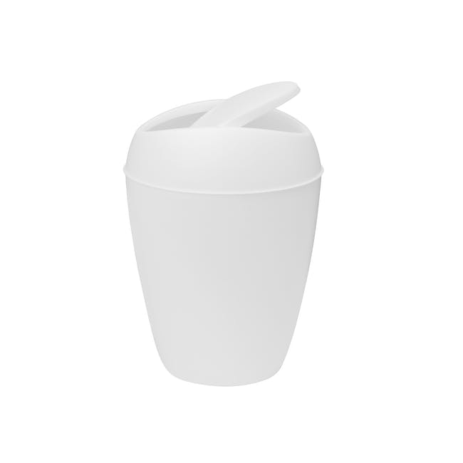 Twirla Waste Can - White - 3