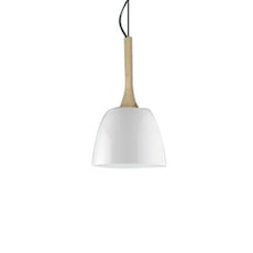 Wooden Dome Pendant - White
