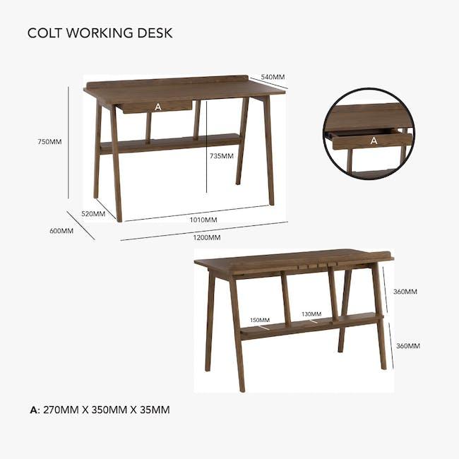 Colt Study Desk 1.2m - Walnut - 7