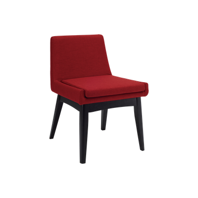 Fabian Dining Chair - Black, Crimson - Image 1