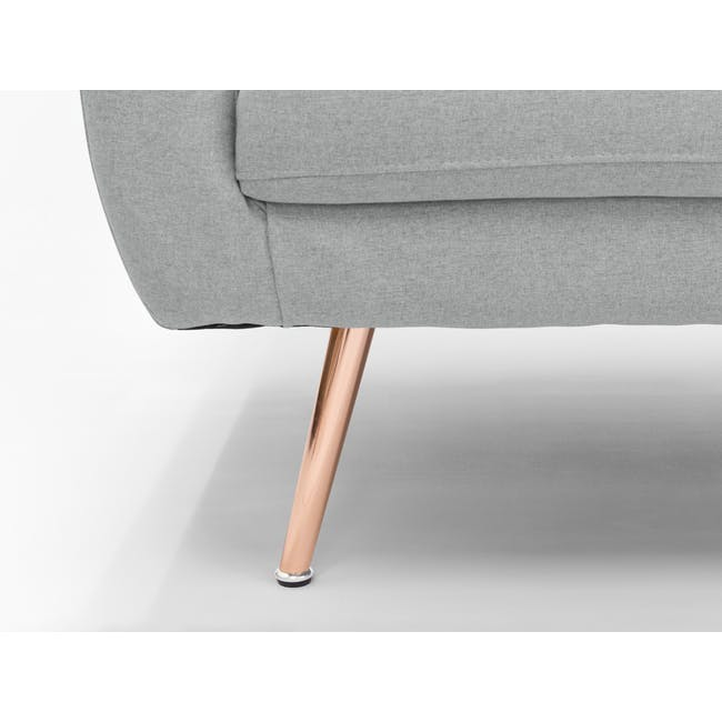 (As-is) Arden Armchair- Rose Gold, Slate -1 - 11