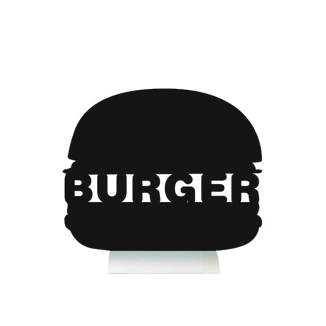 Securit Burger-Shaped Table Chalkboard - 0