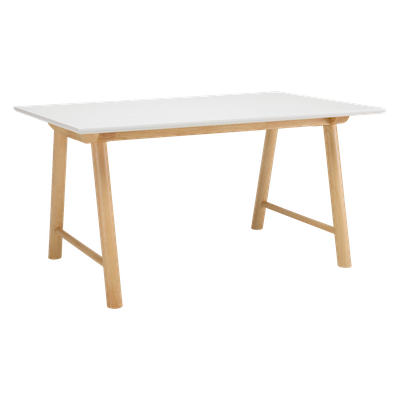 Ernest Dining Table 1.5m with Rhoda Bench and 2 Rhoda Dining Chairs - Image 2