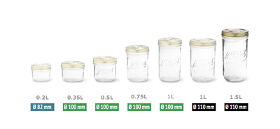 Familia Jar 1.0L - Narrow