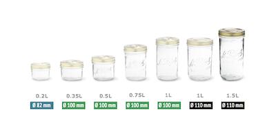 Familia Jar 1.0L - Wide