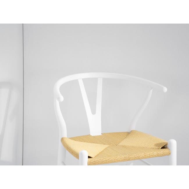 Wishbone Chair Replica - White, Natural Cord - 3