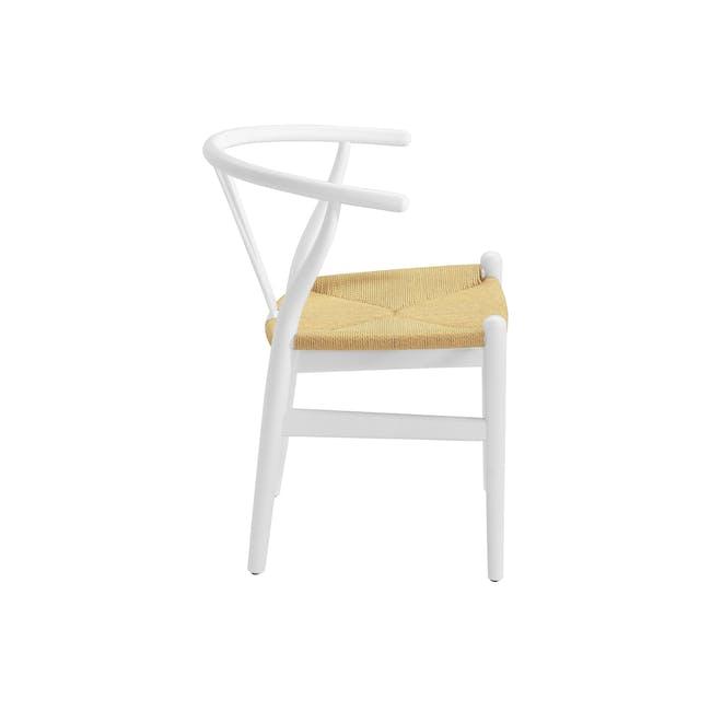 Wishbone Chair Replica - White, Natural Cord - 7