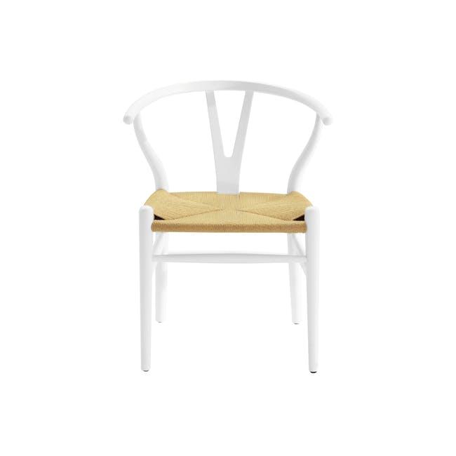 Wishbone Chair Replica - White, Natural Cord - 6
