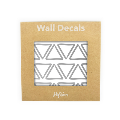 Doodle Triangle Wall Decal (Pack of 48) - Silver