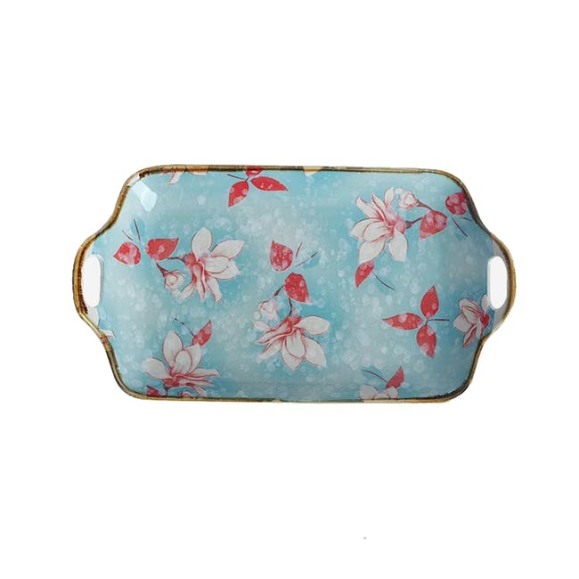 Table Matters Magnolia Rectangular Plate with Handles - 0