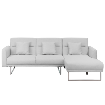 Stan L Shaped Sofa Bed Silver Sofa Beds By Hipvan Hipvan
