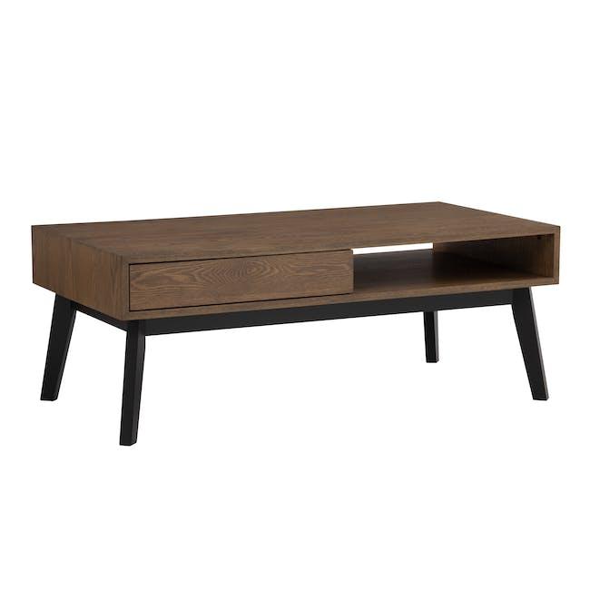 Malton Single Drawer Coffee Table - Walnut - 5