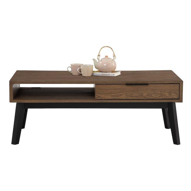 Malton Single Drawer Coffee Table - Walnut - 3