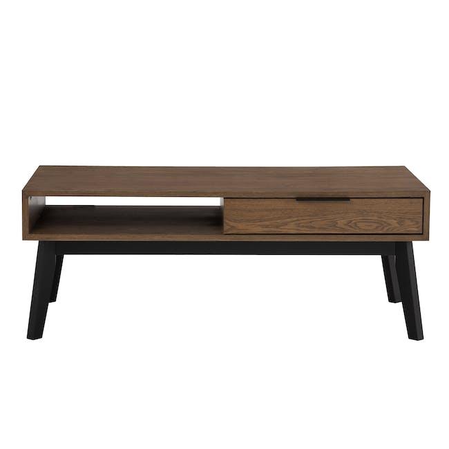 Malton Single Drawer Coffee Table - Walnut - 0