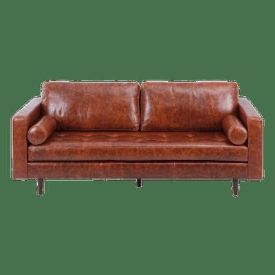 Nolan 3 Seater Sofa - Cigar (Premium Leather) - Image 2