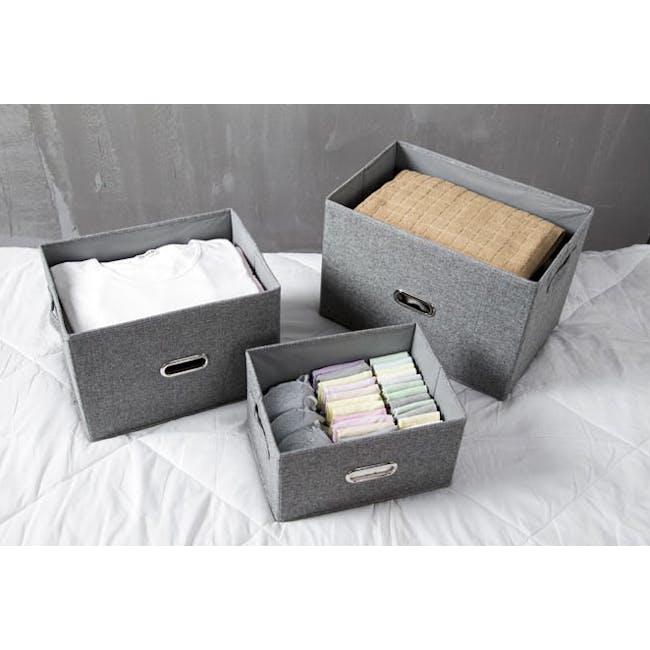Leonard Fabric Storage Box - Slate - Small - 1