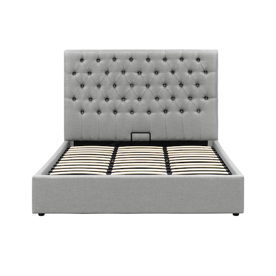 Isabelle King Storage Bed Silver Fox