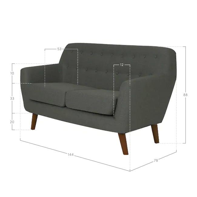 Emma 2 Seater Sofa - Dusk Blue - 4