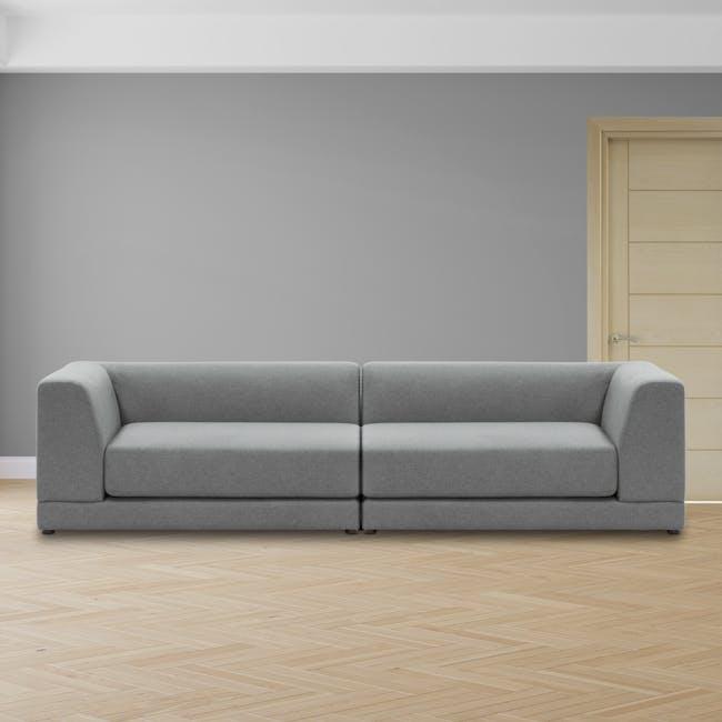 Abby Chaise Lounge Sofa - Stone - 1