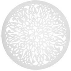Doily Felt Carpet - White