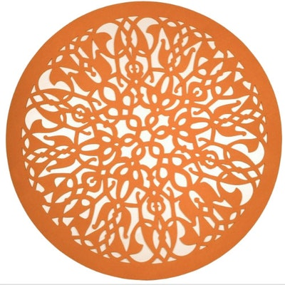 Doily Felt Carpet - Orange