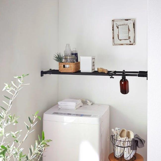 HEIAN DIY Strong Shelf - 73cm to 112cm (Black) - 1