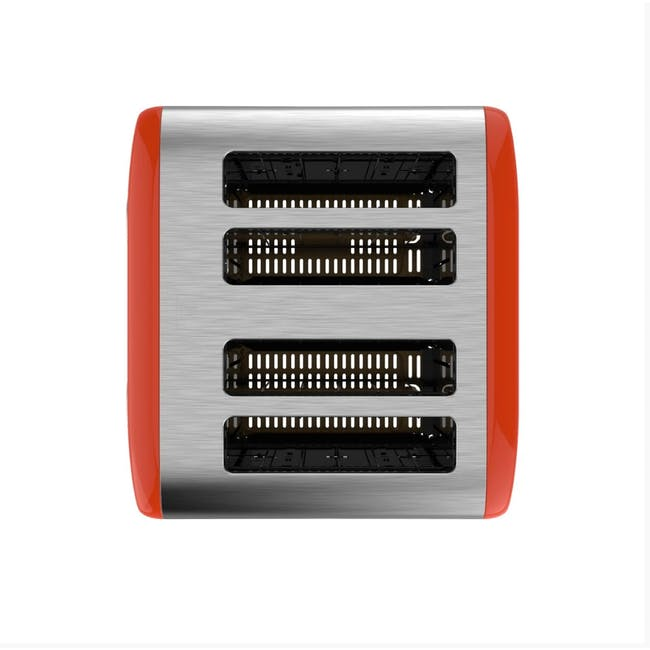 Odette Streamline 4-Slice Bread Toaster - Orange - 3