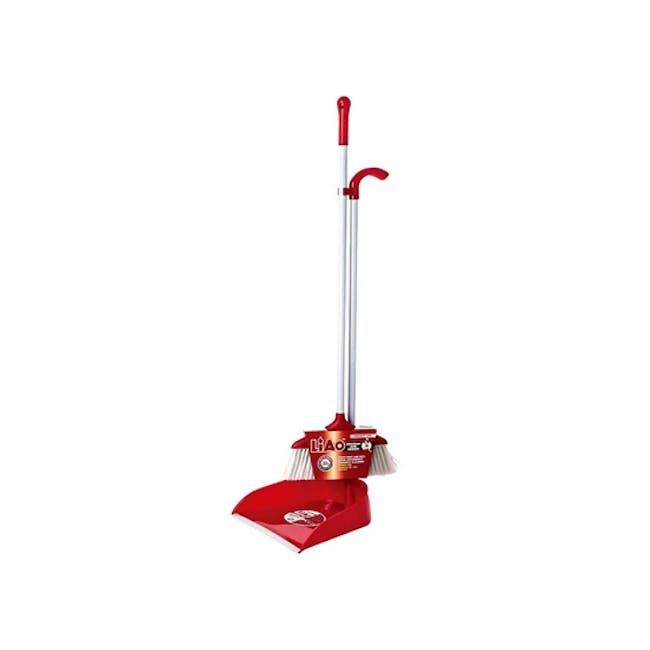 Stainless Steel Dustpan & Broom Set - 0