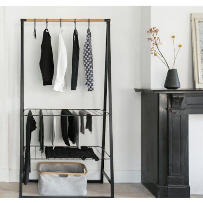 Linn Clothes Rack Large - Black - 1
