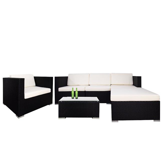 Summer Modular Outdoor Sofa Set - Creamy White Cushions - 0