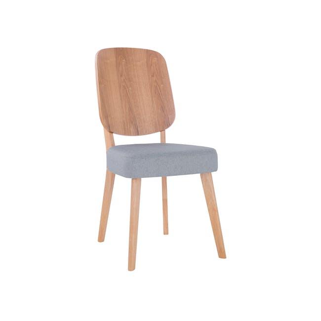 Theodore Dining Chair- Oak, Light Grey - 4