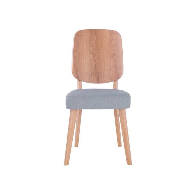 Theodore Dining Chair- Oak, Light Grey - 1