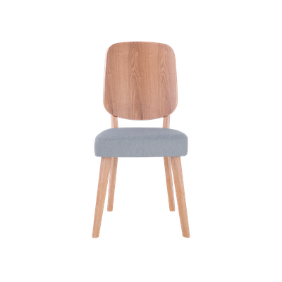 Theodore Dining Chair - Oak, Light Grey - Image 2