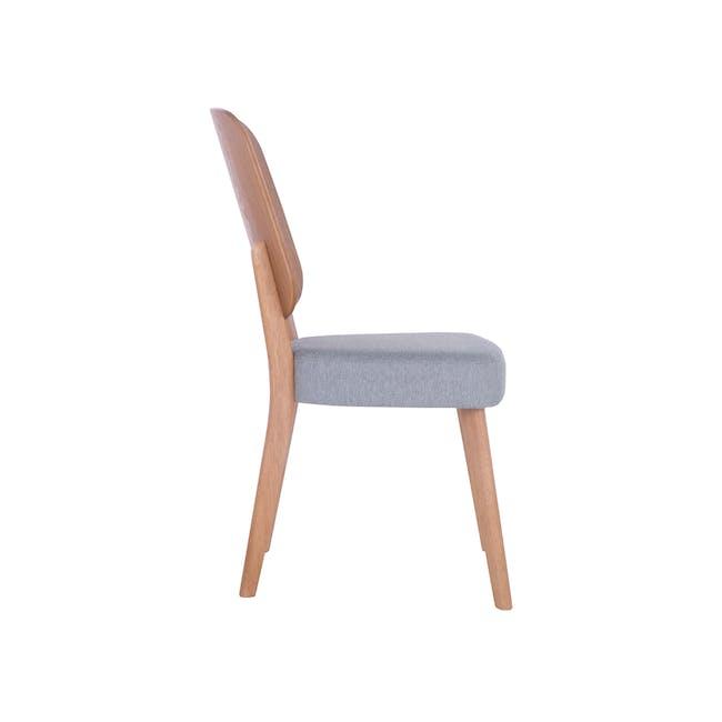 Theodore Dining Chair- Oak, Light Grey - 3