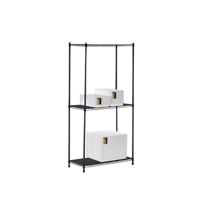 3-Tier Multi Utility Shelf L75 cm - Black - Image 2