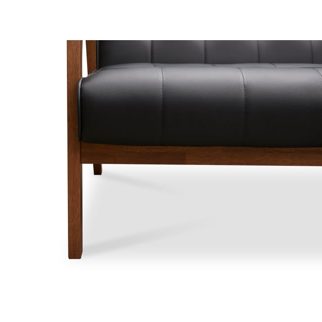Tucson 2 Seater Sofa - Cocoa, Espresso (Faux Leather) - 10