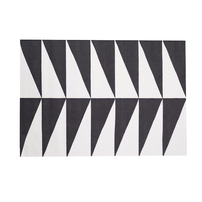 Liam Low Pile Rug 1.7m x 1.2m - Monochrome - 0