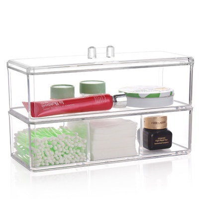 4-Compartment Acrylic Stackable Organizer
