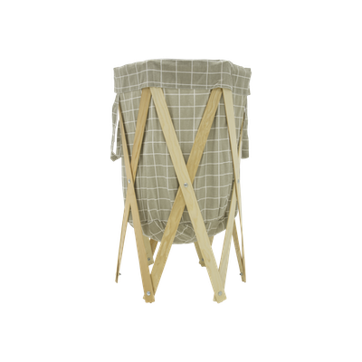 Nora Laundry Basket - Grey Checked - Image 1