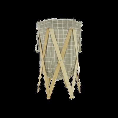 Nora Laundry Basket - Grey Checked - Image 1