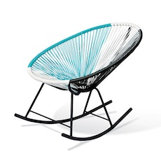 Acapulco Rocking Chair - Blue, White, Black Mix