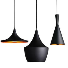 Beat Black Pendant Lamps - Set of 3