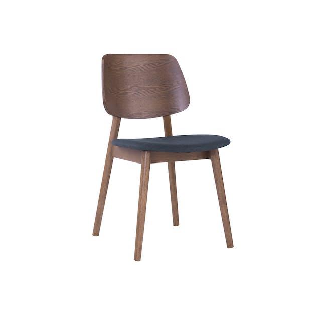 Riley Dining Chair - Walnut, Dark Grey - 0