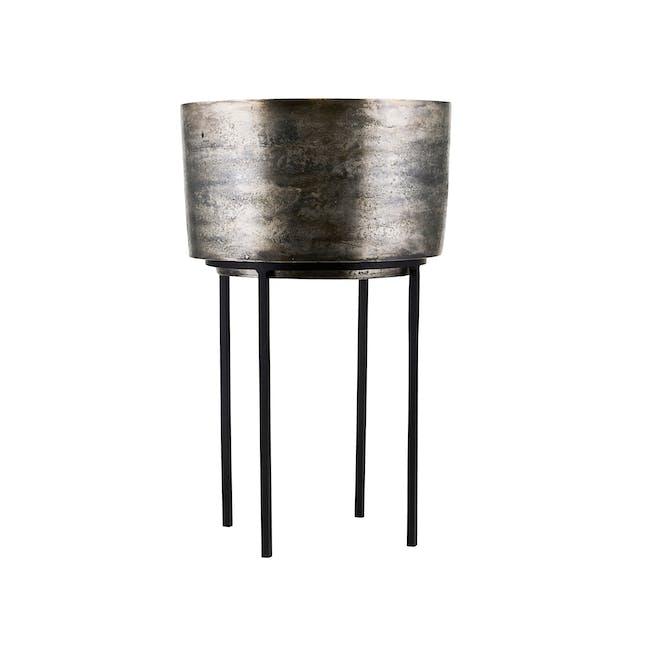 Kazi Planter - Silver Oxidized - Tall - 0