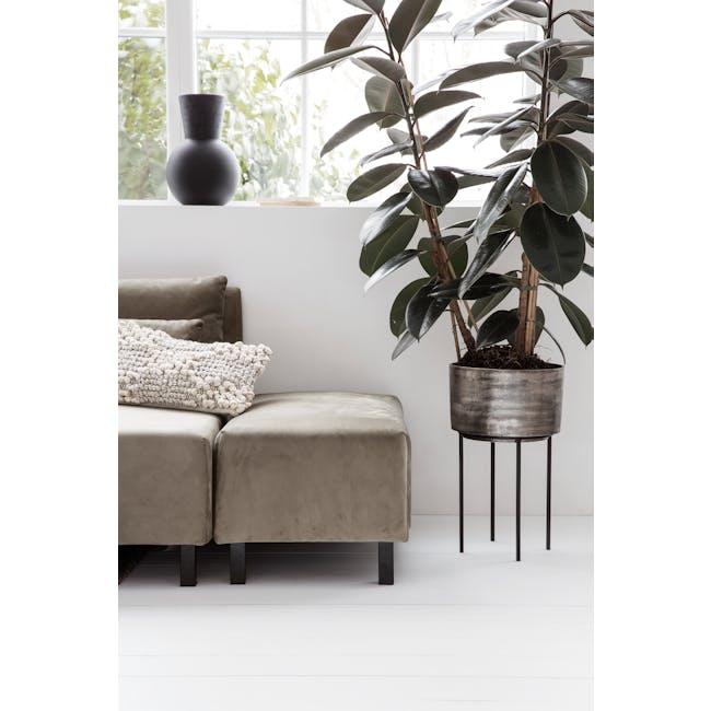 Kazi Planter - Silver Oxidized - Tall - 1
