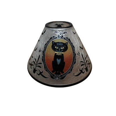 Black Cat Night Jar Shade