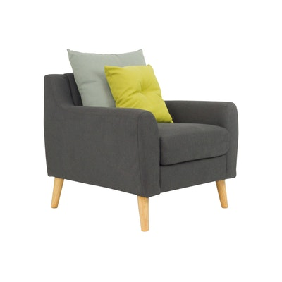 Evan Jr. Armchair w/ Cushions - Granite