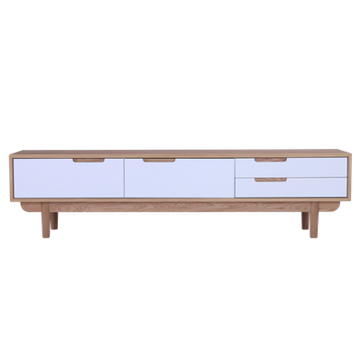 Larisa TV Console 1.8m - White, Oak - Image 1